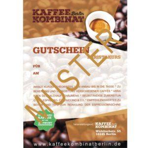 Baristakurs Basic KaffeeKombinatBerlin Gutschein