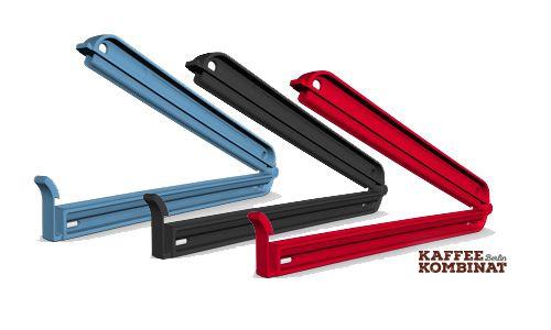 Geschirr Verschlussklemmen Beutel WeLoc PA150 schwarz rot blau